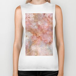 Beautiful & Dreamy Rose Gold Marble Biker Tank
