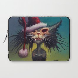 Zombie Cat Christmas Laptop Sleeve