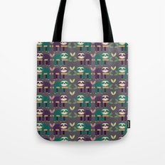 Sloth pattern Tote Bag
