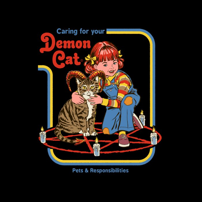 Caring for your Demon Cat Duvet Cover