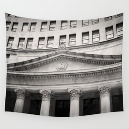 Federal Reserve Bank of Chicago Black and White Wall Tapestry