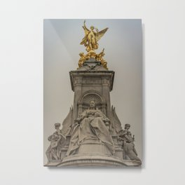 Palace Views Victoria Monument London England Metal Print