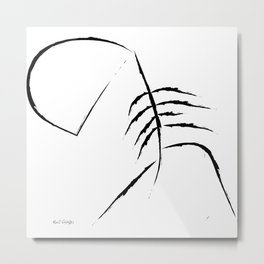 Sad Figure Metal Print