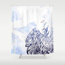 Tresses IV Shower Curtain