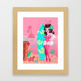 Hawaii Burlesque Festival Beach Bunny Framed Art Print