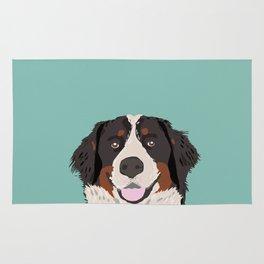 Bernese Mountain Dog pet portrait dog art illustration fur baby dog breed unique gift for dog lover  Rug