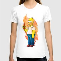 homer T-shirts featuring Homer & Duff by Lukas Stobie