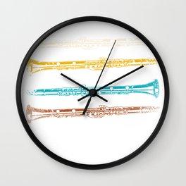 Clarinets Retro Wall Clock