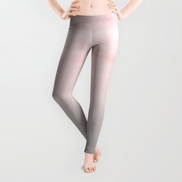 Touching Blush Gray Watercolor Abstract #2 #painting #decor #art #society6 Leggings