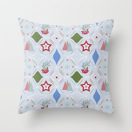 Christmas pattern. Throw Pillow