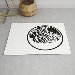 Tiger Tattoo - Black Rug
