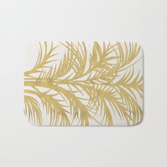 Gold Palms Bath Mat