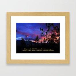 Serenity Prayer Spring Sunrise Framed Art Print