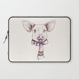 Pig and scarf Laptop Sleeve