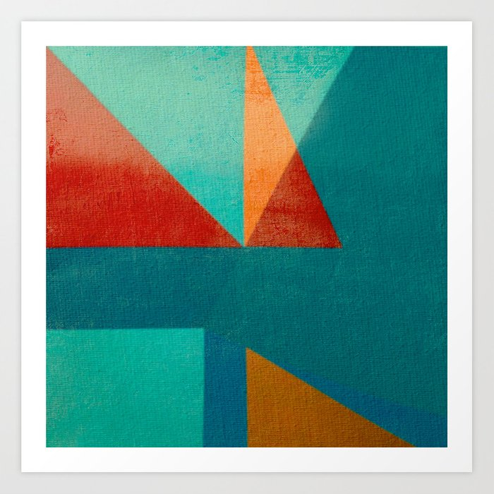 Sailing in River Mouth Art Print