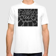 UMA FLOR black White Mens Fitted Tee MEDIUM