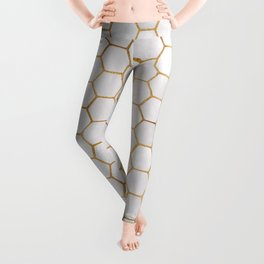 Geometric Hexagonal Pattern Leggings