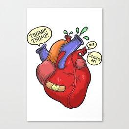Heart thump-thump Canvas Print