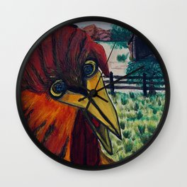 Crazy Chicken Wall Clock