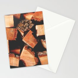 Wood Logging Stationery Cards