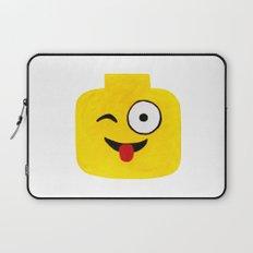 Winking Smile - Emoji Minifigure Painting Laptop Sleeve