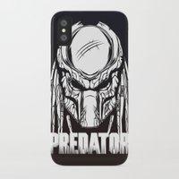 predator iPhone & iPod Cases featuring Predator by OneAppleInBox