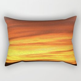 The Sky is on Fire - Deep Red in Oils Rectangular Pillow