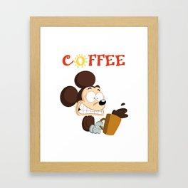 Coffee Mouse Framed Art Print