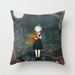 Firebird Throw Pillow