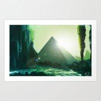 Pyramid of Knowledge Art Print