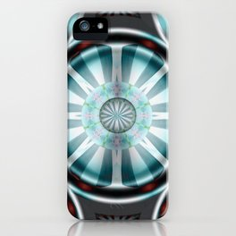 Pinwheel Hubcap in Aqua iPhone Case