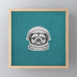 Astronaut Pug Framed Mini Art Print