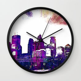 Minneapolis, Minnesota Skyline Wall Clock