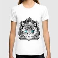 snow leopard T-shirts featuring Snow Leopard by chobopop