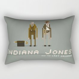 Pixel Art Indiana Jones Rectangular Pillow