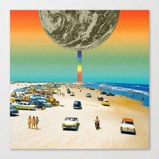 Rainbow beach Canvas Print