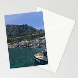 capri italy boat Stationery Cards