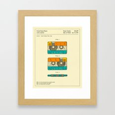 CASSETTE TAPE PATENT (1991) Framed Art Print