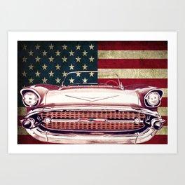 Chevrolet Bel Air 1957 Art Print