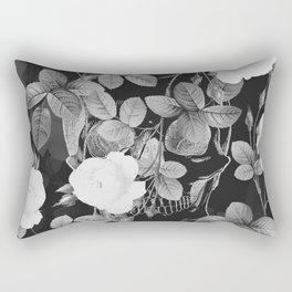 Skull and Roses Rectangular Pillow