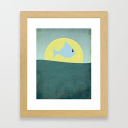 Something fishy! Framed Art Print