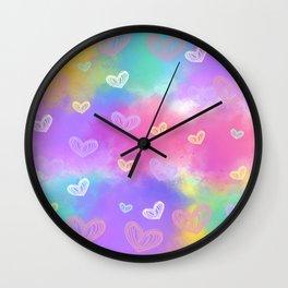 Colorful Heart Drawings Ver.10 Wall Clock