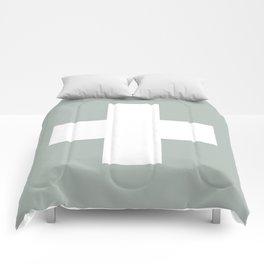 Swiss Cross Ash Comforters
