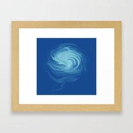 Blue flam Framed Art Print