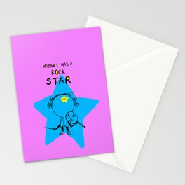 MOZART WAS A ROCK STAR (PINK) Stationery Cards