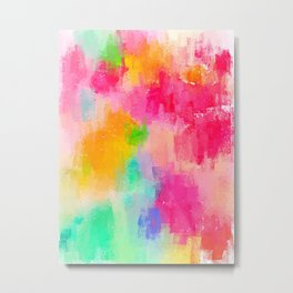 Spring Pastel Showers Metal Print