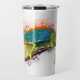 Chameleon Art Travel Mug