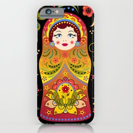 Russian matrioshka iPhone Case