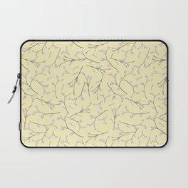 Sakura - Cherryblossom Branches on yellow Pattern Laptop Sleeve