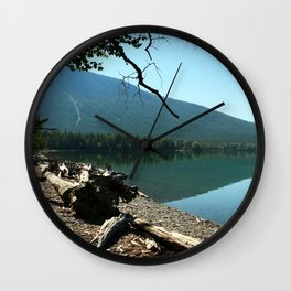 Turquoise Blue Waters Of McDonald Lake Wall Clock